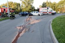 Wypadek na drodze krajowej w Tarnowie