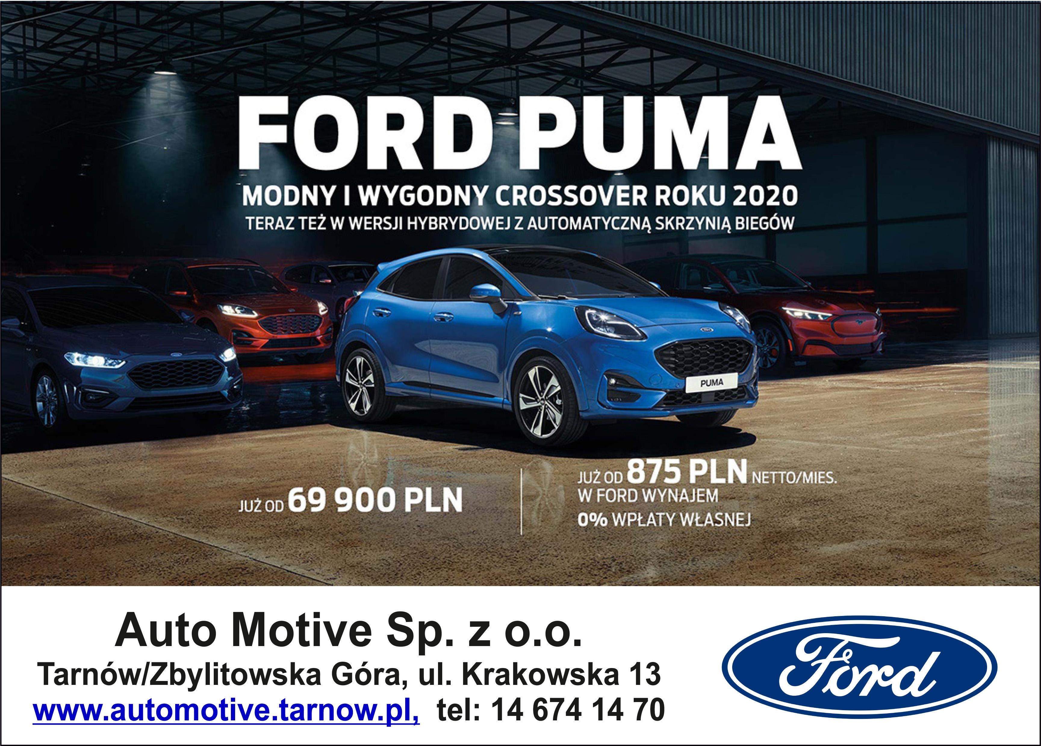 Ford Puma. MODNY I WYGODNY.