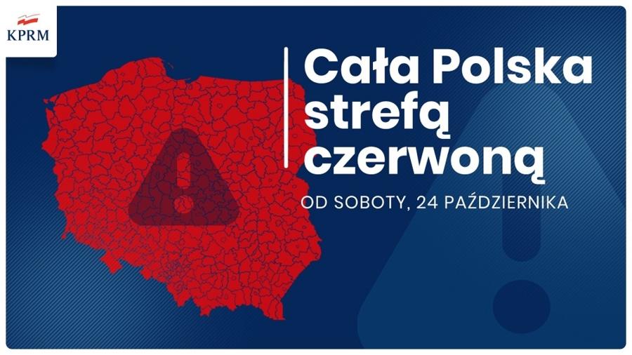 Miasto Tarnów. CAŁA POLSKA W STREFIE CZERWONEJ - NOWE OBOSTRZENIA