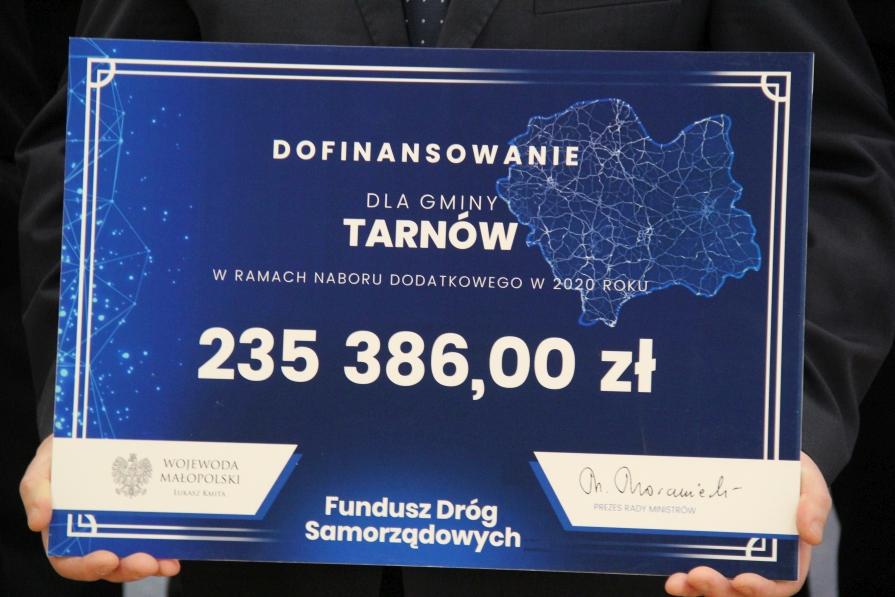 Gmina Tarnów. 235 tys. zł. dla Gminy Tarnów z Funduszu Dróg Samorządowych