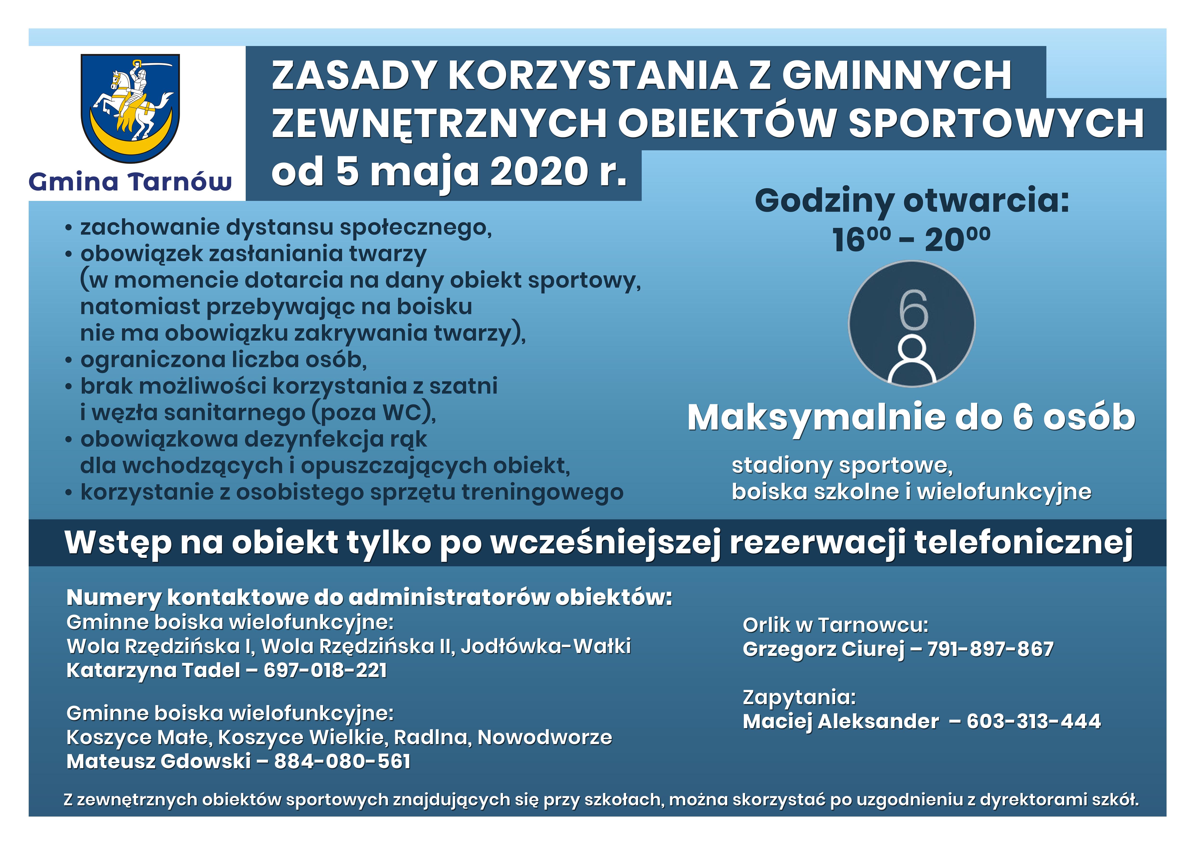 Gmina Tarnów. Na gminnych boiskach można zagrać już od 5 maja