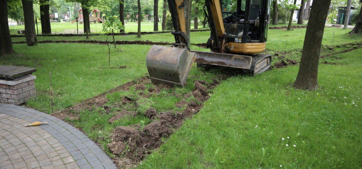 Gmina Skrzyszów. Rozpoczęły się roboty budowlane przy zagospodarowaniu przestrzeni publicznej w Skrzyszowie