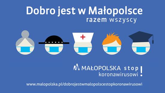 Gmina Wierzchosławice. Kampania Dobro jest w Małopolsce. Stop Koronawirusowi!