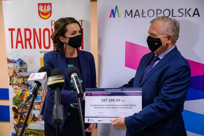 Starostwo Powiatowe w Tarnowie. Sprzęt do nauczania zdalnego dla szkół zawodowych