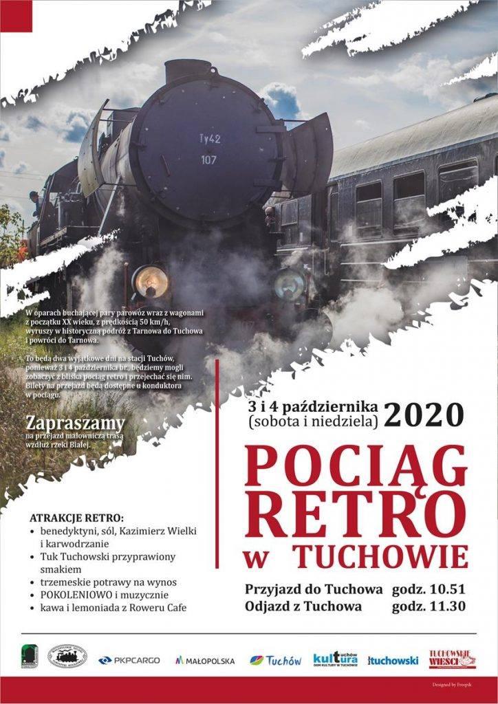 Gmina Tuchów. Pociąg retro w Tuchowie
