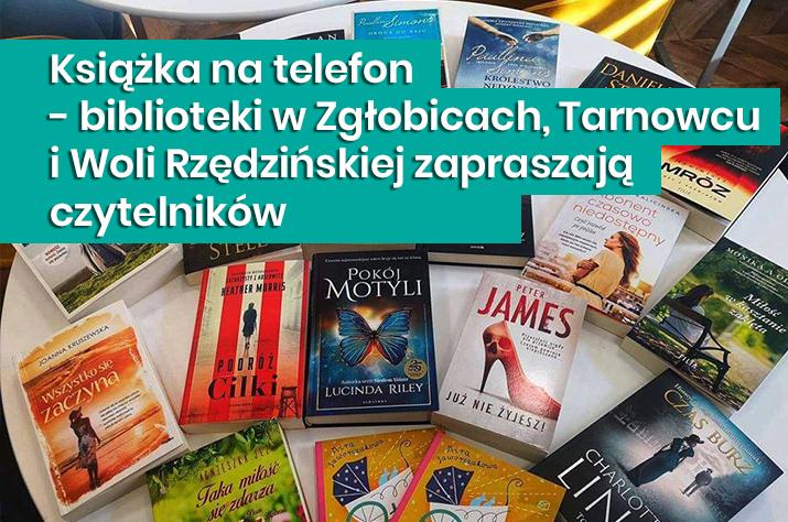 Gmina Tarnów. Książka na telefon - biblioteki w Zgłobicach, Tarnowcu i Woli Rzędzińskiej zapraszają czytelników
