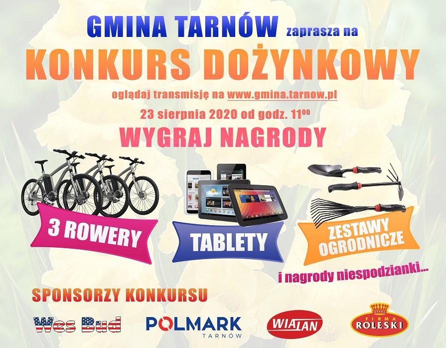 Gmina Tarnów. Dożynkowy konkurs – Oglądaj transmisję i wygraj super nagrody