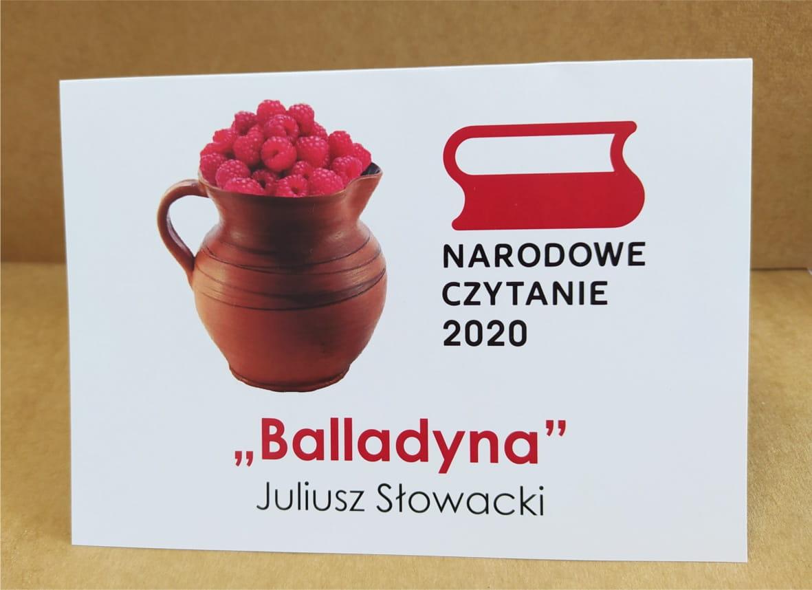 Gmina Lisia Góra. Narodowe Czytanie 2020 w Gminnej Bibliotece Publicznej w Lisiej Górze.