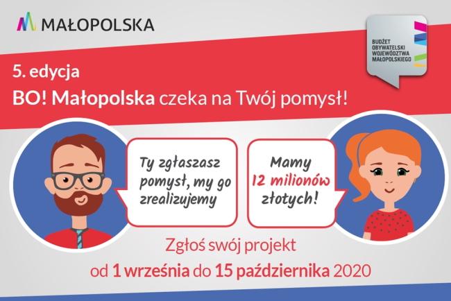 Kolejna szansa dla aktywnych - trwa nabór zadań do BO Małopolska