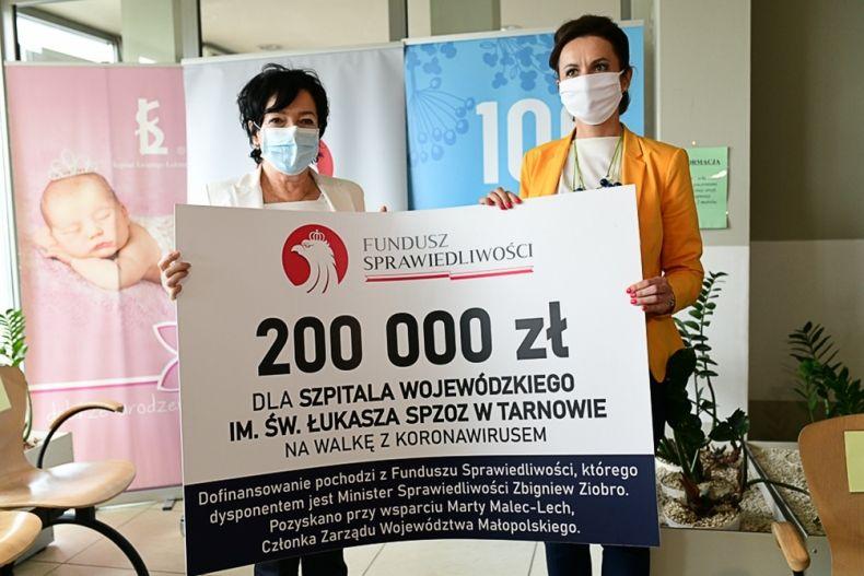 Pieniądze dla tarnowskiego szpitala na walkę z koronawirusem