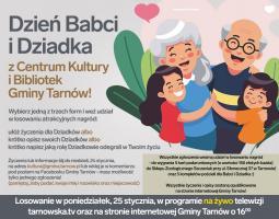 Gmina Tarnów. Dzień Babci i Dziadka z Centrum Kultury i Bibliotek Gminy Tarnów!