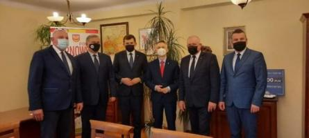 Powiat tarnowski. Robocza wizyta w Starostwie Powiatowym